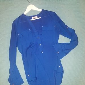 Blue CK Medium Long-Sleeve Blouse